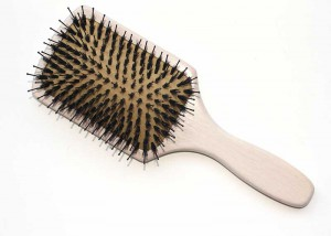 Wooden Boar Bristle Paddle Brush B17