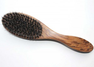 Wooden Oval Bristle hair Brush B3