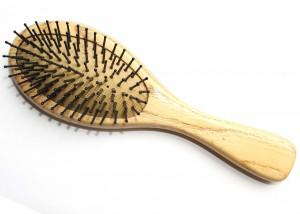 Wooden Oval Cushion Brush With Nylon Bristle B10