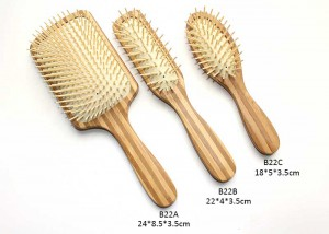 Nylon Bristle Bamboo-Cushion-Brush-Set-B22