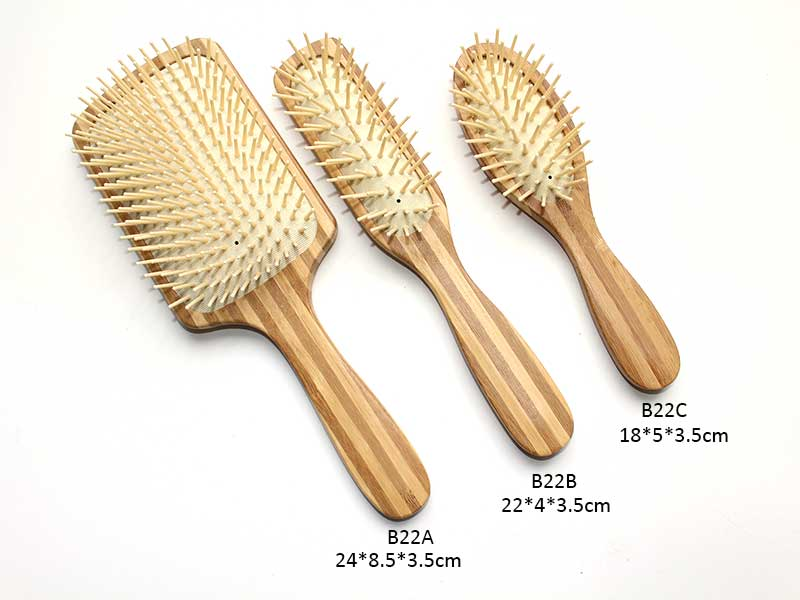 Nylon Bristle Bamboo Cushion Brush Set B22