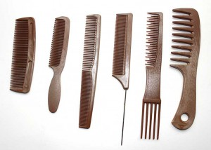 Hairdressers Set with 6 Piece Hair Combs C1