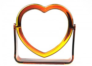 Heart-Shaped Double Side Table Mirror M8