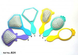 Kids-Hairbrush-Set-With-Hand-Mirror-B24