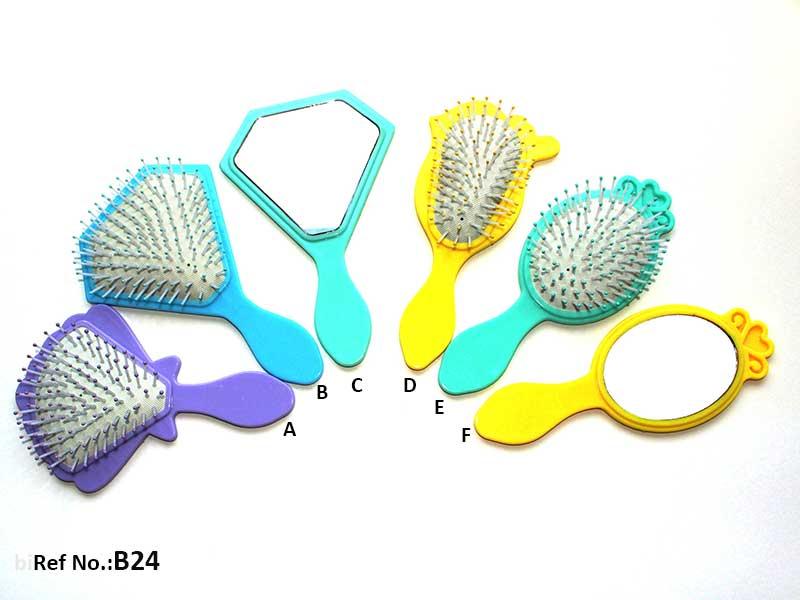 Kids Hairbrush Set Hand Mirror B24