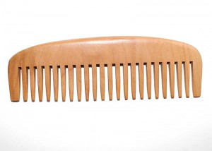 Natural Health Pear Wooden Hair Comb C3