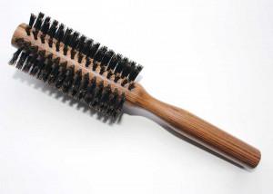Round Small Bristle Brush Wooden Handle B6S