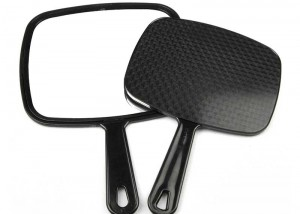 Salon Makeup Hand mirror Black Frame MH06