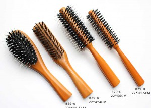 4pcs Boar Bristle Hair Brushes Set B29