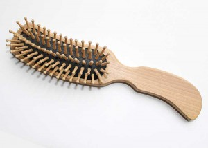 Natural Wooden Cushion Hair Brush B37