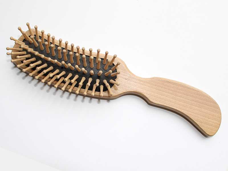 Natural Wooden Cushion Hair Brush B37