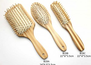 Natural Wooden Massage Hair Brush B19
