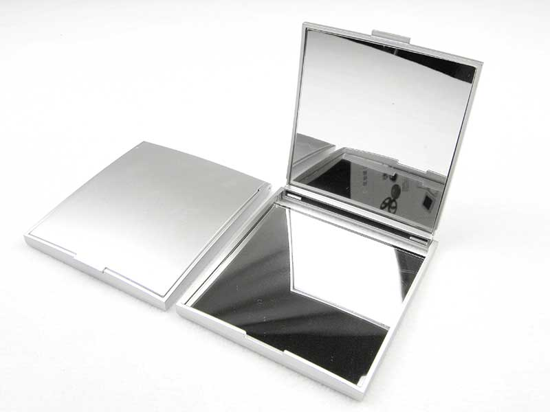 Square Metal Compact Mirror For Makeup MC10