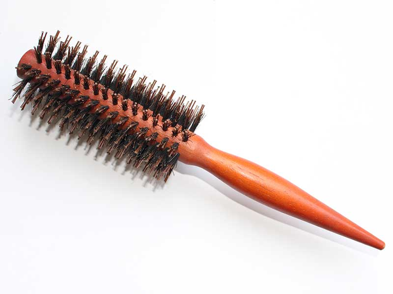 Brown Pin Tail Handle Bristle Brush B47