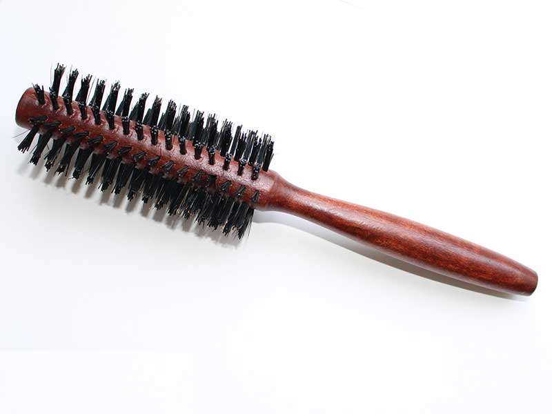 Brown Round Boar Bristle Brushes B53
